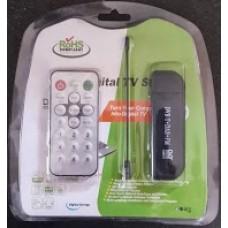 RTL2832U R820T DVB-T DAB FM USB Digital TV Dongle (SDR Frequency 24 - 1766 MHz)