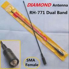 Dual Band VHF / UHF Antenna Diamond RA771 SMA FM for Baofeng UV5RA (39CM long) 2.15 dB/3.0 dB