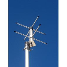 Turnstile crossed dipole antenna for 430 - 440Mhz (70cm)