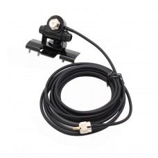Black Car Antenna mount RB-400 with PL259 and SO239 connector  (5M cable)