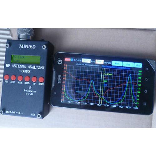 Antenna SWR Analyzer Mini60 1 - 60 Mhz with Bluetooth