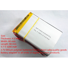 3.7 V 3200 mah Lithium Polymer Battery With Protector