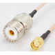 20CM (8inch)  RF coaxial pigtail cable UHF SO239 SO-239 female to SMA male RG316