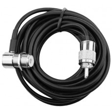 5M 50Ohm Coaxial cable with SO239 Antenna connector and PL259 Radio connector
