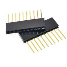 Long Header Female Connector 2.54MM spacing 10pin