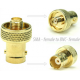 SMA - female to BNC- female Adaptor Connector