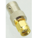 Adapter BNC female jack to SMA male plug RF connector straight