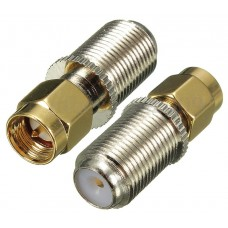 F Female Jack to SMA Male Plug Straight RF Coaxial Adapter.