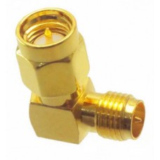 SMA Male to RP-SMA Female Right Angle RF Adapter Connector Angle 90 Degree