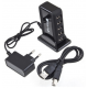 7 Port High Speed USB 1.1 2.0 Hub + AC Power Adapter EU Plug