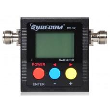 SW-102 Digital Antenna Power & SWR Meter VHF/UHF 125-525MHz (Max 120W)