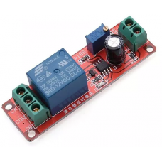 Delay Timer Switch Adjustable 0-10sec With NE555 Electrical Input 12V 10A (Switch 250 10A)