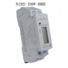 Kilowatt Hour Meter Digital LCD 230VAC 5(32)A DIN Rail 99999.9kwh 50hz