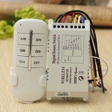 Wireless 4 Channel Light 220V to 240V Remote Control Switch and Transmitter.