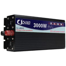 Intelligent Screen Pure Sine Wave Power Inverter 24V To 220V 3000W