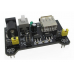 MB102 Breadboard Power Supply Module 3.3V 5V For Arduino Solderless (Color: Black)