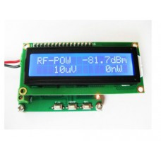 RF Power Meter 1-500Mhz -80 to 10 dBm 0.1 dBm resolution with 1602 lcd display (assembled)