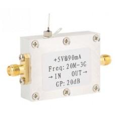 20M-3GHz Wideband RF Signal Amplifier Broadband Module Gain 20dBm