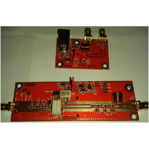 Ultra-Low-Noise LNA 50-4000 MHZ Relay switchable (in/out