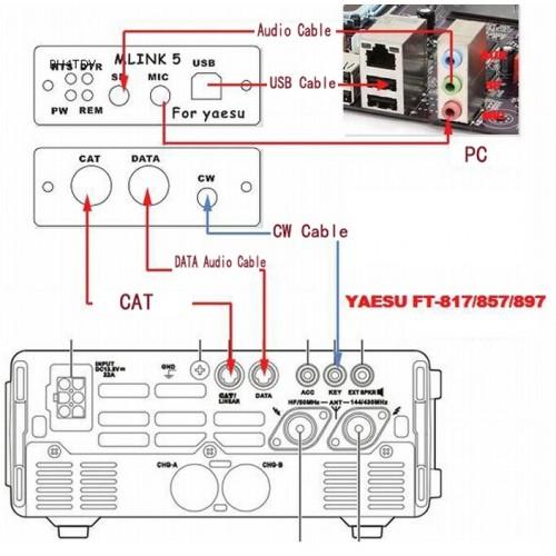 u5 link professional yaesu ft 817nd ft 857d ft 897d radio interface rh giga co za Astatic Mic Wiring Diagram Cobra 29 Mic Wiring Diagram