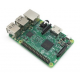 The Raspberry Pi 3 Model B is the third generation Raspberry Pi with a 64-bit 1.2GHz quad-core processor, 1GB of RAM, Wi-Fi (b/g/n), and Bluetooth 4.1