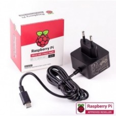 Raspberry Pi4 Official USB-C 15.3W power supply Black 5.1V 3A