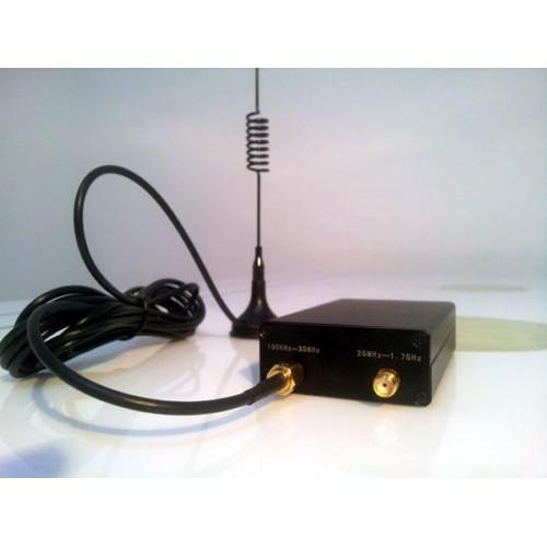 100KHz-1 7GHz UV HF RTL-SDR USB Tuner Receiver/ R820T+8232 + case +