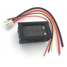 0.28″ 5 Wires Red Led Digital Dual DC 100V 100A Voltmeter Ammeter Without Shunt