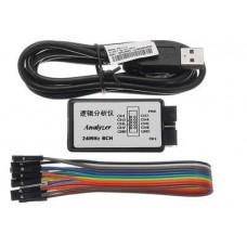 USB SALEAE Logic Analyzer 24MHz 8 Channel 24M/seconds Logic Analyzer Debugger