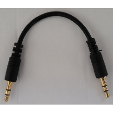 "3.5mm 1/8"" Aux Male To Male Plug Audio Stereo Headphone Cable 17cm"
