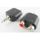 3.5mm Male Stereo to Dual RCA Female