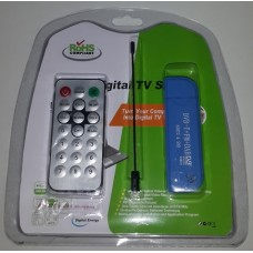 RTL2832U R820T2 DVB-T DAB FM USB Digital TV Dongle (SDR Frequency 25 - 1766 MHz)