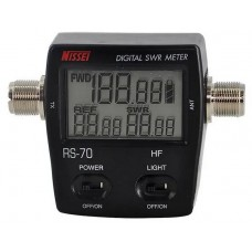 NISSEI RS-70 Digital SWR/Power Meter HF 1.6-60MHz 200W SO239 Type Connector For Two-way Radio