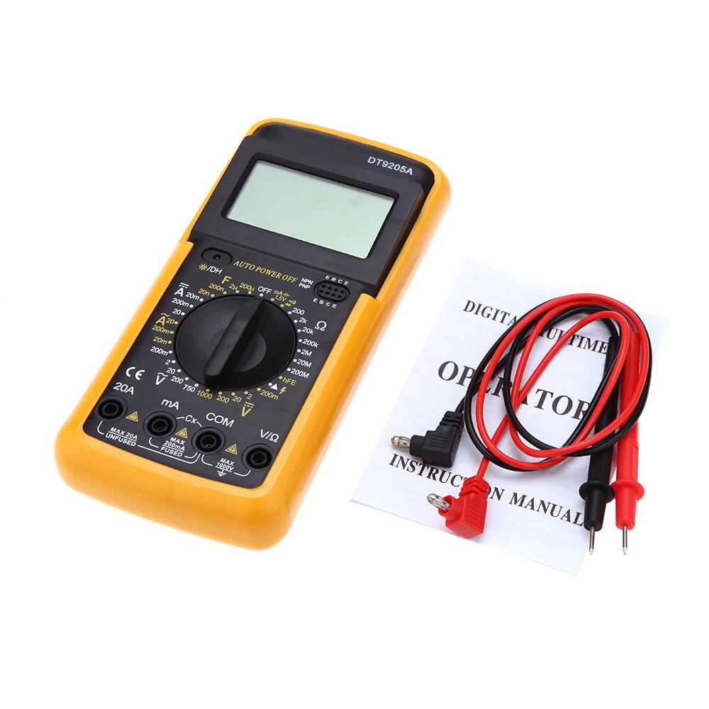 Dt9205a Digital Multimeter Measure Dc Ac Current