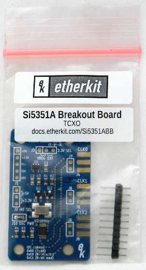 Si5351A Breakout Board with crystal reference oscillator (8