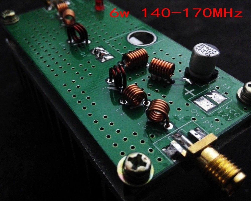 6w 140m 170mhz Vhf Power Amplifier With Heat Sink For Fm Transmitter Circuit Rf Ideal Hackrf