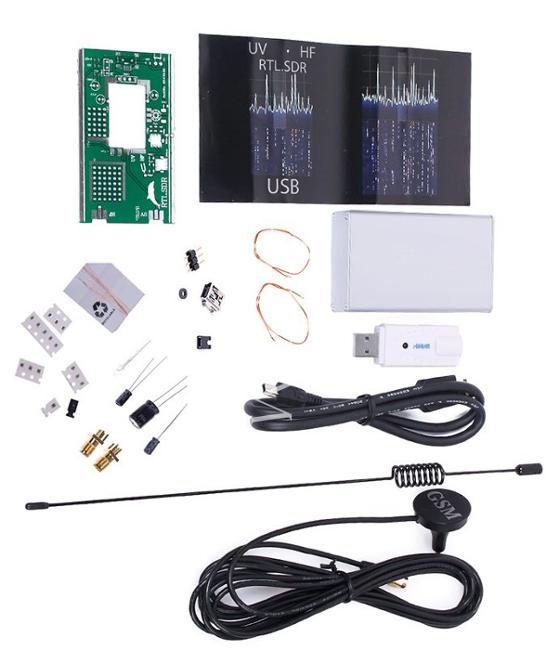 100KHz-1 7GHz UV HF RTL-SDR USB Tuner Receiver/ R820T+8232 +