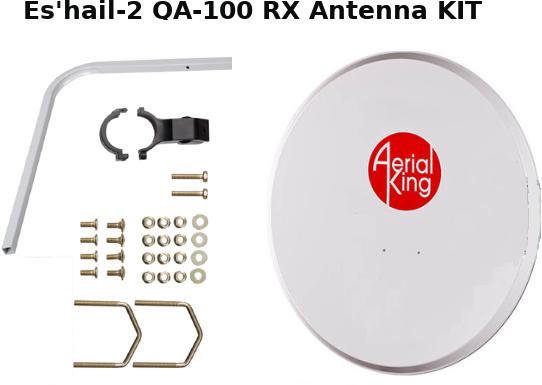 Eshail-2 Satellite Antenna Kit(80cm)