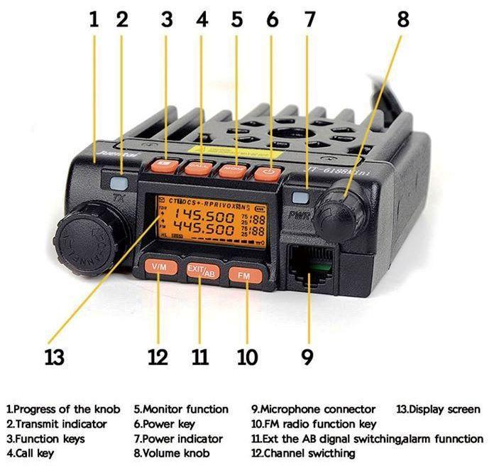 Zastone MP300 VHF - UHF Mobile Transceiver 136-174 / 400-480MHz (22W
